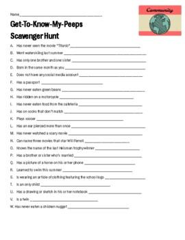 Scavenger Hunt Fun Friday Activity