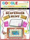 Scavenger Hunt: Interpret Standard Form of Quadratic(Google Interactive & Copy)