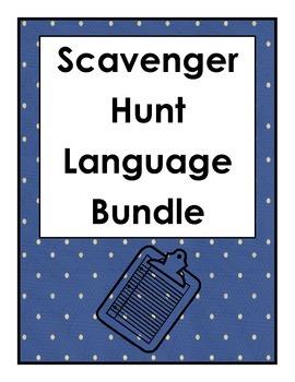 Scavenger Hunt Language Bundle