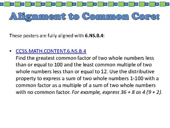Scavenger Hunt: Least Common Multiple and Greatest Common Factor - 6.NS.B.4