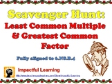 Scavenger Hunt: Least Common Multiple and Greatest Common