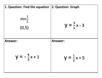 Scavenger Hunt: Linear Equations