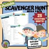 Printable Scavenger Hunt Lists