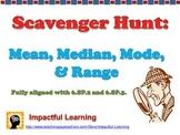 Scavenger Hunt: Mean, Median, Mode, & Range Word Problems