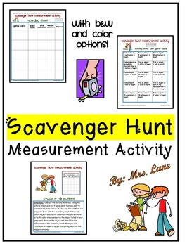 Scavenger Hunt Measurement Activity (customary And Metric Units) By Metric System Conversion Worksheet Scavenger Hunt Measurement Activity (customary And Metric Units)