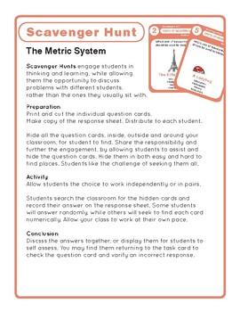 Task Cards Scavenger Hunt - Measurement - Metric System Edition
