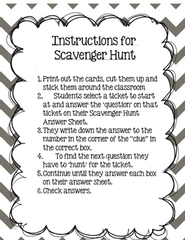 Scavenger Hunt!Grade 3  Module 2 Lessons 1-5