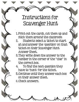 Scavenger Hunt Grade 3 Module 2 Lessons 16-21