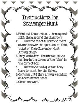 Scavenger  Hunt Grade 3 Module 3 Lessons 1-5