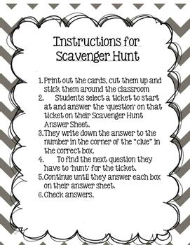 Scavenger Hunt Module 3 Lessons 6-10