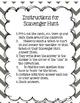 Scavenger Hunt Grade 3 Module 3 Lessons 6-10