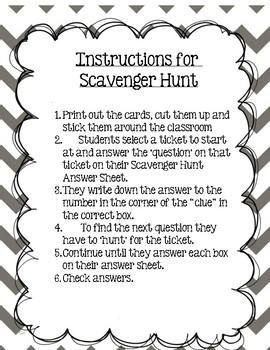 Scavenger Hunt Grade 3  Module 7 Lessons 1-3