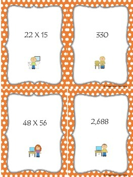 Scavenger Hunt Multiplication Two Digits