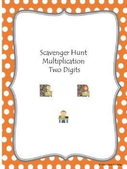 Scavenger Hunt Multiplication Two Digits
