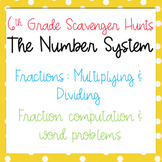 Scavenger Hunt: Multiply & Divide Fractions- Computation &