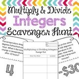 Scavenger Hunt: Multiply & Divide Integers