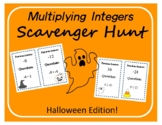 Scavenger Hunt: Multiplying Integers - Halloween Edition!
