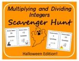 Scavenger Hunt: Multiplying and Dividing Integers - Hallow