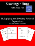 Scavenger Hunt:  Multiplying and Dividing Rational Expressions