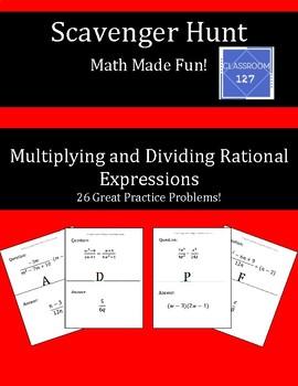 Scavenger Hunt:  Multiplying and Dividing Rational Expressions