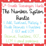 Scavenger Hunt: Number System Bundle- Decimals, Fractions,