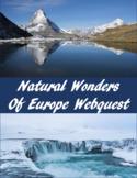 Scavenger Hunt  Of Natural Wonders of Europe using Google Maps