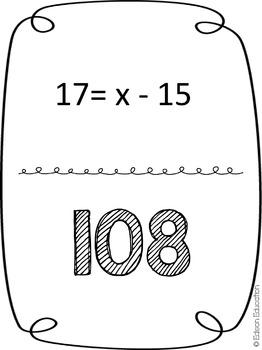 Scavenger Hunt: One-Step Equations