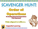 Scavenger Hunt: Order of Operations - 6.EE.A.1.