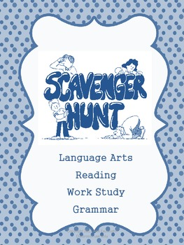 Scavenger Hunt Organizational Binder cover, dividers and recording sheets