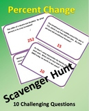 Scavenger Hunt: Percent of Change Word Problems