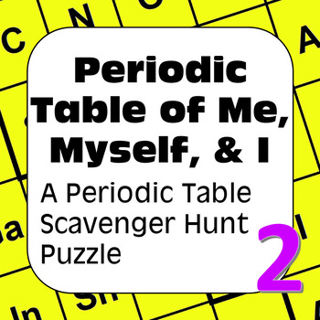 All About Me Periodic Table Scavenger Hunt Periodic Table Of Me