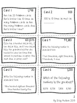 Scavenger Hunt {Place Value, Rounding, Addition and Subtraction}