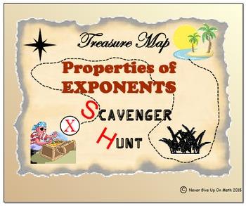 Scavenger Hunt - Properties of Exponents