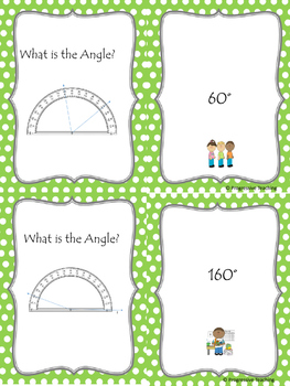 Scavenger Hunt Protractor Angles