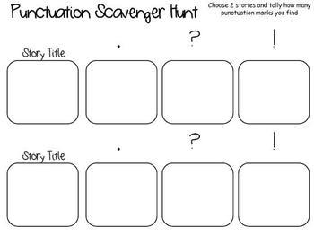Scavenger Hunt- Punctuation