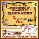 Scavenger Hunt (with optional QR Code) - Solving Sys of Equations - Elimination