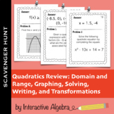 Scavenger Hunt: Quadratic Functions Review