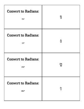 Scavenger Hunt - Radian and Degree Basics
