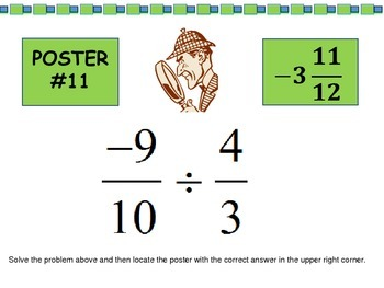 Scavenger Hunt: Rational Number Operations - 7.NS.1, 7.NS.2, & 7.NS.3