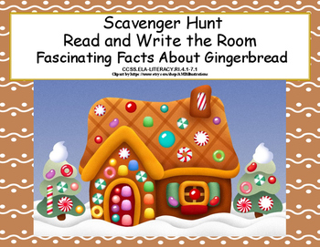 Christmas Comprehension- Read The Room- Grades 4-7 Fun Facts About Gingerbread