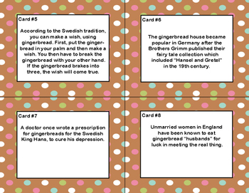 Fun Facts About Gingerbread-Reading Comprehension- Read The Room- Grades 4-7