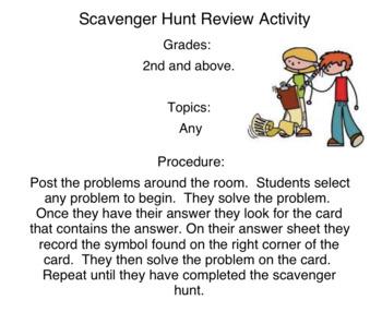 Scavenger Hunt Review Game