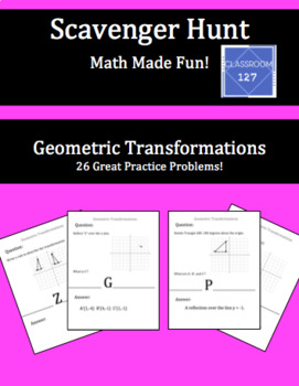 Scavenger Hunt:  Review Geometric Transformations