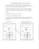 Scavenger Hunt:  Review Graphing Linear Equations