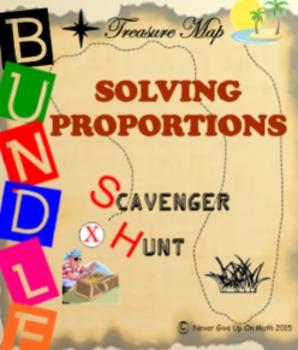Scavenger Hunt {School/Home/Stations} - BUNDLE Solving Proportions