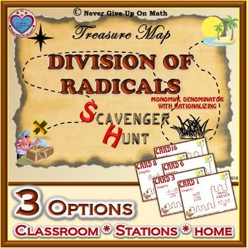 Scavenger Hunt {School/Home/Stations} - Dividing Radicals (with Rationalizing)