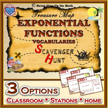 Scavenger Hunt {School/Home/Stations} - Exponential Function Vocabularies