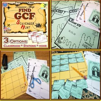 Scavenger Hunt {School/Home/Stations} - Find GCF of Monomials