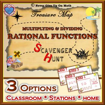 Scavenger Hunt {School/Home/Stations} - Multiply & Divide Rational Expressions
