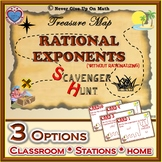 Scavenger Hunt {School/Home/Stations} - Rational Exponents (No Rationalizing)
